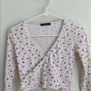 White cross body shirt